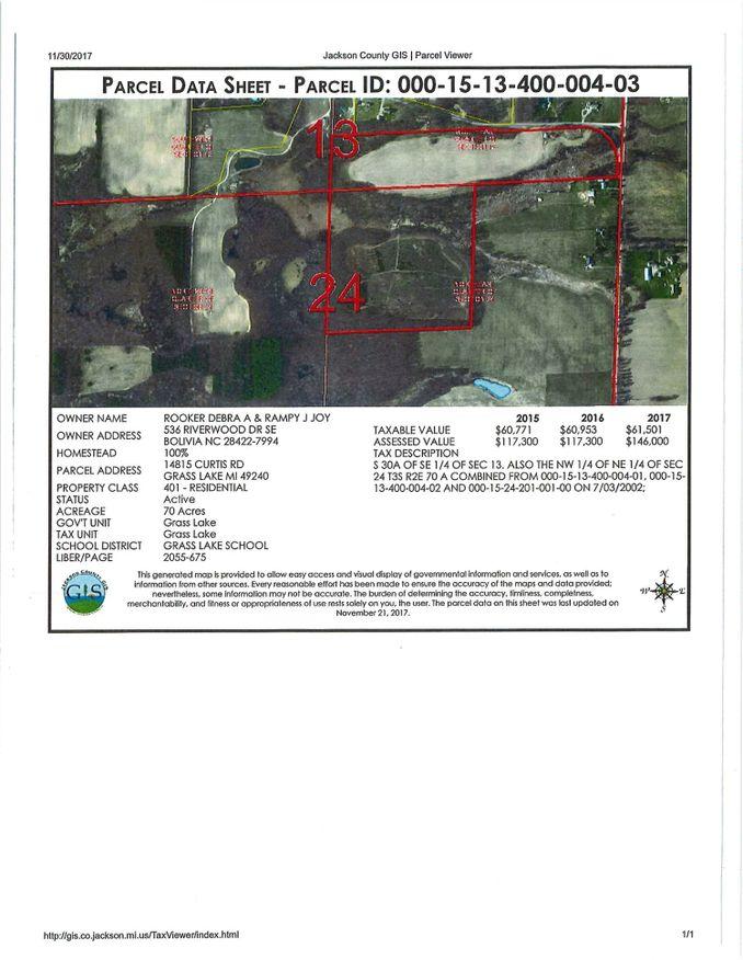14815 Curtis Road Grass Lake, MI 49240